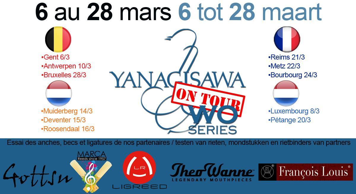 Illustration Tournée Yanagisawa Du 6 au 28 Mars